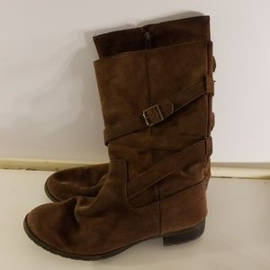 Lauren by Ralph Lauren Shelby Rider Boots Dark 8.5